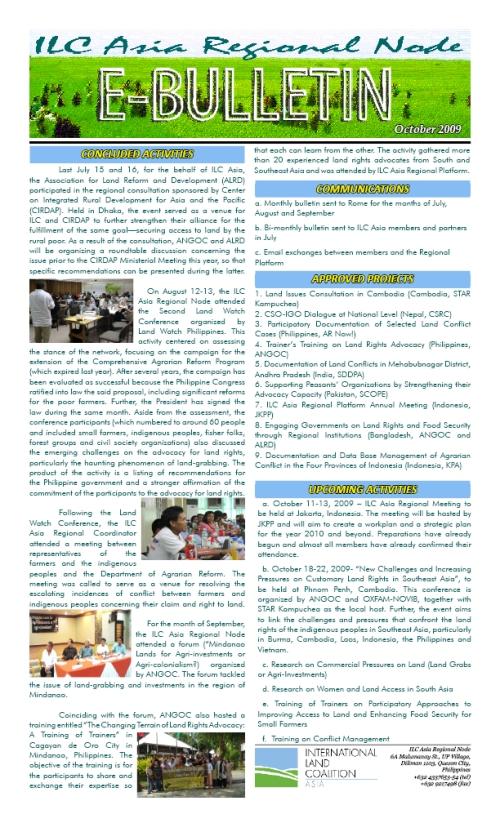 E-Bulletin (October 2009)