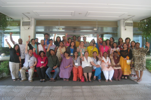 Photo: Participants of the 4th Learning Institute for PWESCR, Phase 1, Dhaka, 23 -30 March 2014